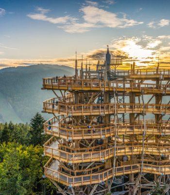 wieża widokowa krynica górska